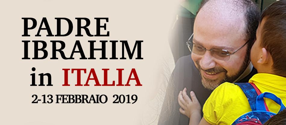 Padre Ibrahim torna in Italia a portare la sua testimonianza
