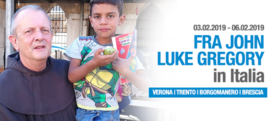 Arriva in Italia la testimonianza di fra Luke Gregory
