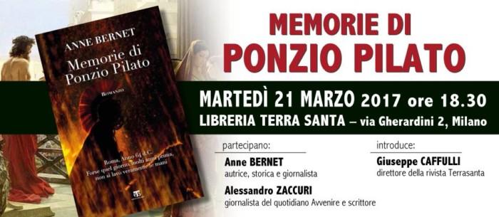"""Presentazione del libro """"Memorie di Ponzio Pilato"""""""
